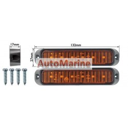 LED Trailer Marker Lamp - 6 LED - Amber