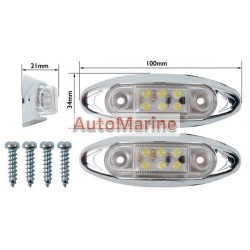 LED Trailer Marker Lamp - 6 LED - White