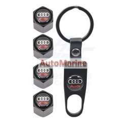 Valve Caps - Audi with Key Ring