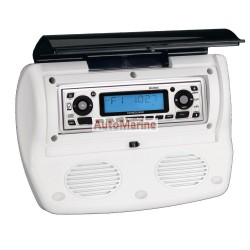 Waterproof Radio Housing with Accessories and Speakers