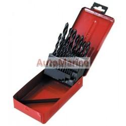 Drill Bit Set in Metal Box - 19 Piece