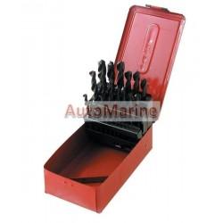 Drill Bit Set in Metal Box - 25 Piece