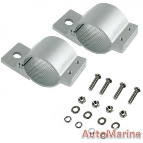 Spot Lamp Bracket Set - 49-54mm - Silver