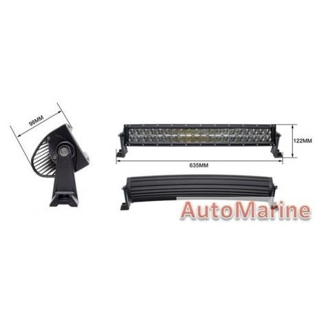 LED Spot Lamp Curved Bar - 120W(40X3W) - 10-30V