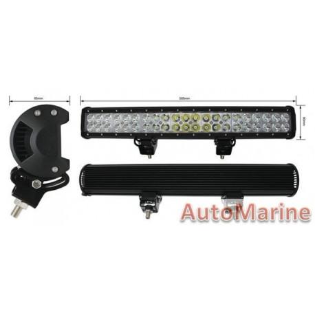LED Spot Lamp Bar - Double Row - 126 Watt - 505mm x 80mm