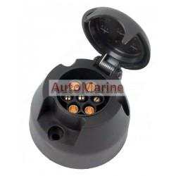 Trailer Power Socket - 7 Pin - PVC - Slider Card