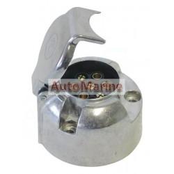Trailer Power Socket - 7 Pin - Aluminium - Sunwagon