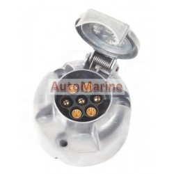 Trailer Power Socket - 7 Pin - Aluminium - Slider Card