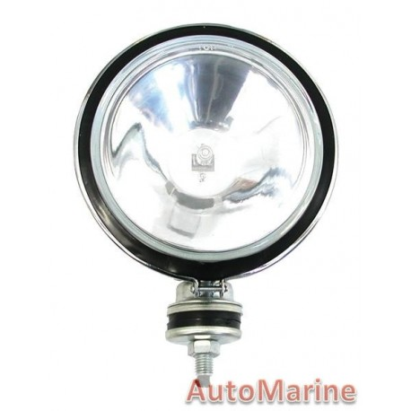 Single Round Spot Lamp with H3 Globe - Clear - 167mm
