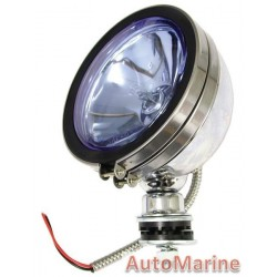 Single Round Spot Lamp with H3 Globe - Blue - 154mm