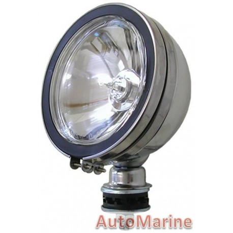 Single Round Spot Lamp with H3 Globe - Clear - 154mm