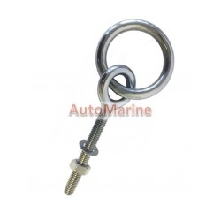 Long Welded Eye Bolt with Ring - 316SS - 80kg Load