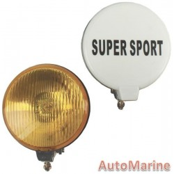 Single Round Spot Lamp with H3 Globe - Yellow - 140mm