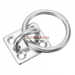 Eye Plate with Ring - 8mm - 304SS