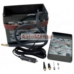 Mini Air Compressor & Tyre Inflator in Ammo Box - 12 Volt