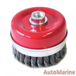 Cup Brush Knotted 100mm