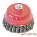 Cup Brush Knotted 100mm M14X2