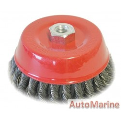 Cup Brush Knotted 125mm M14X2