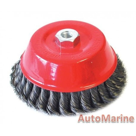 Cup Brush Knotted 150mm M14X2