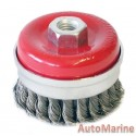 Cup Brush Knotted 65mm