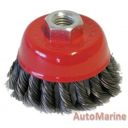 Cup Brush Knotted 75mm M14X2