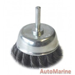 Cup Brush Knotted with Shaft 75mm