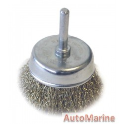 Cup Brush with Shaft 65mm