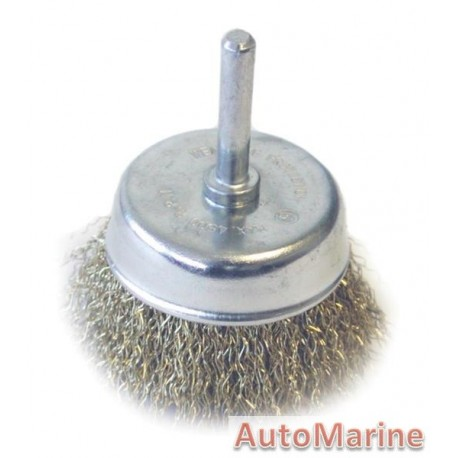 Cup Brush with Shaft 75mm