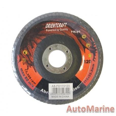 Flap Disc 115mm 120 Grit