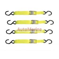 Cam Lock Ratchet Tie Down (25mm x 4.5m) - Set of 4
