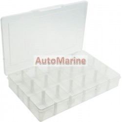 Plastic Box with Lid (18 Compartments)