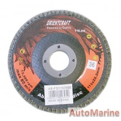 Flap Disc 115mm 36 Grit Stainless Steel