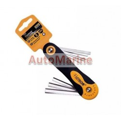 8 Piece Folding Hex Key Set