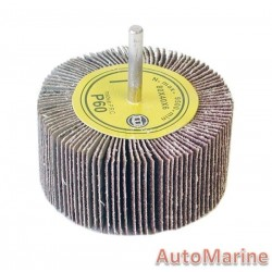 Flap Wheel with Shaft 60 Grit 80X40X6mm