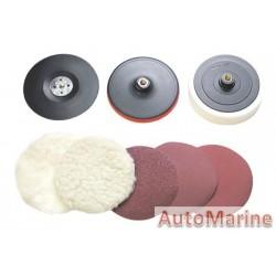 Polisher Kit 180mm 14X2 W/Sand Disc/Pads
