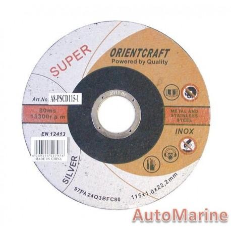 Professional Steel Cutting Disc 115X1X22mm