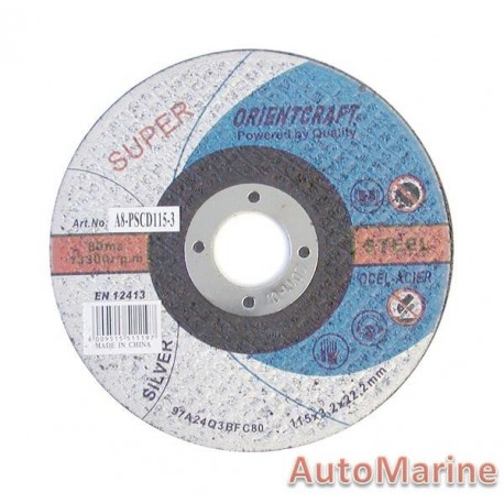 Professional Steel Cutting Disc 115X3X22mm