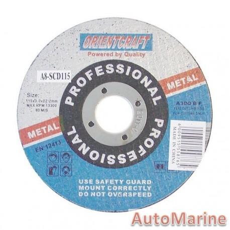 Steel Cutting Disc 115X3X22mm DIY