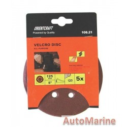 Velcro Sanding Disc with Hole 125mm Grit 180(5)