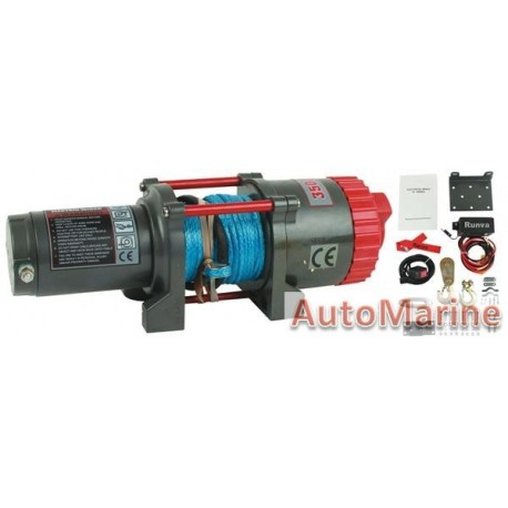 Runva 12 Volt - 3500lb (1588kg) - With Synthetic Rope