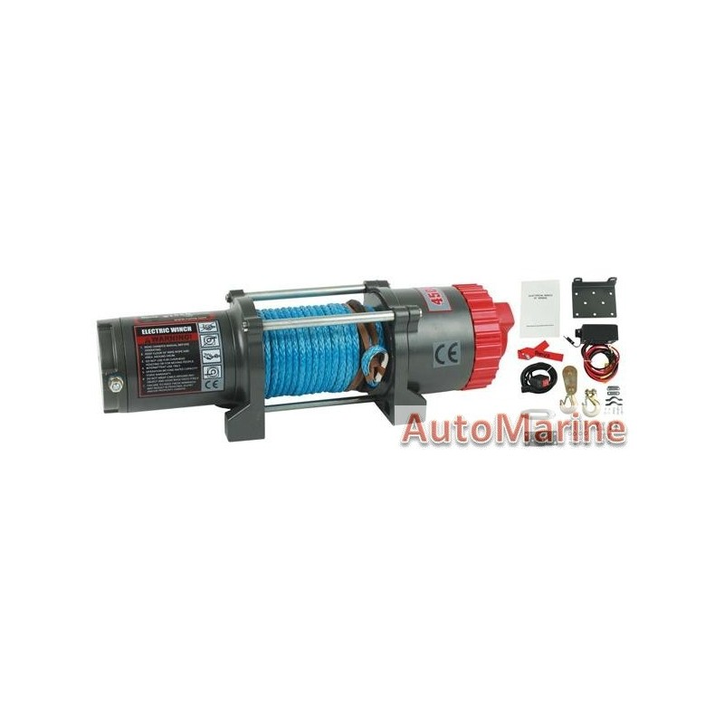 runva ewt4500a-sr 12 volt winch 4500lb 2043kg synthetic rope