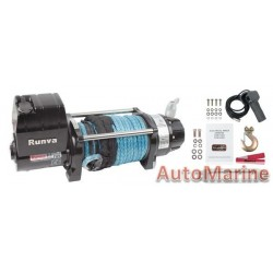 Runva 12 Volt - 9500lb (4309kg) Low Mounting with Synthetic Rope